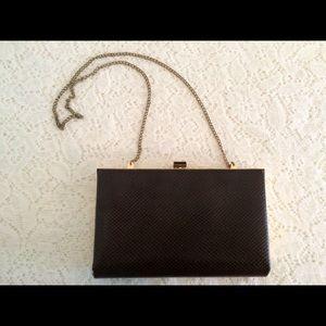 Vintage 60's Faux Snakeskin Clutch Bag Purse